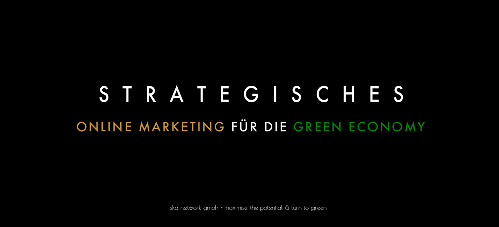 Strategisches Online Marketing für die Green Economy