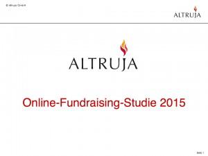 Altruja Online Fundraising-Studie 2015