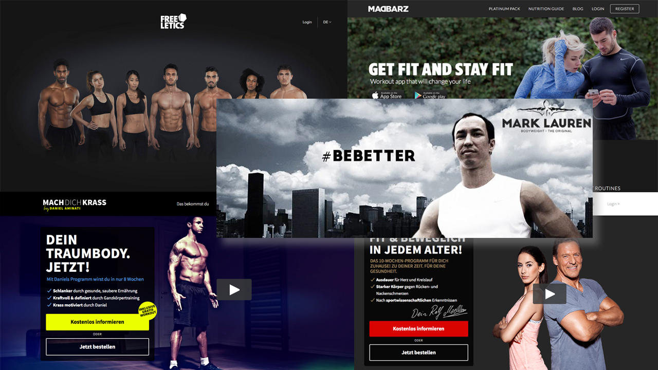 Online Fitness Programme Freeletics, Madbarz, Mark Lauren & Co.