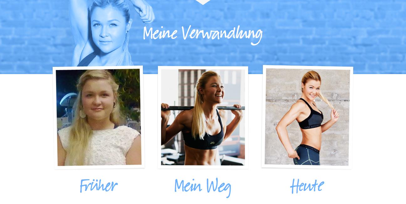 Online Fitness Transformation von Sophia Thiel (Best Practice Story Telling)