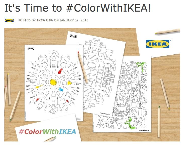 Ausmalbücher für Erwachsene von Ikea #ColorWithIKEA