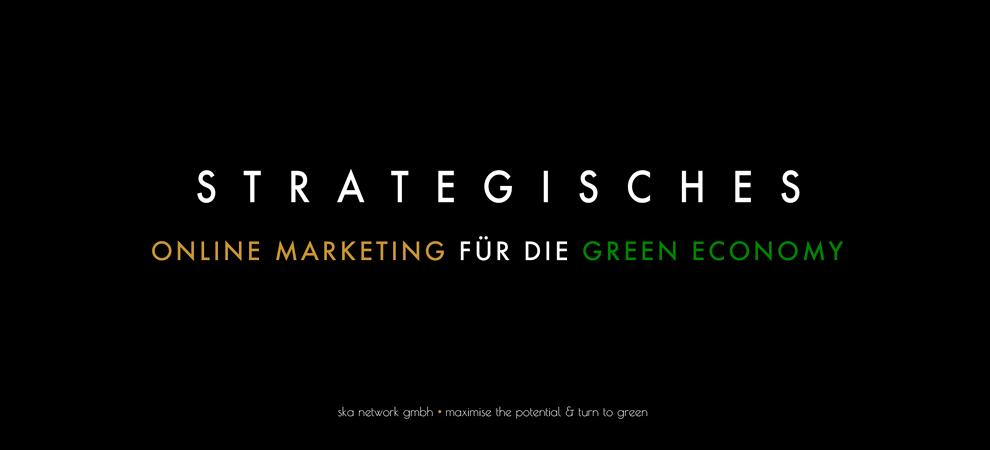 Strategisches Online Marketing für die Green Economy